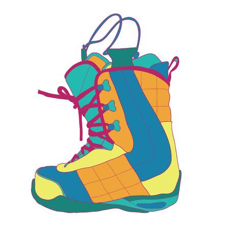 snowboard: Snowboard boot.