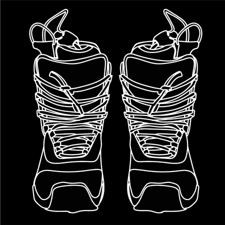 lacing: The snowboard boot front view with a high lacing.
