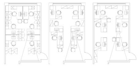 Büromöbel grafik  Standard-Büromöbel Symbole Set In Architekturpläne, Büroplanung ...