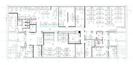 Standard-Büromöbel Symbole Set in Architekturpläne, Büroplanung Icon-Set, Grafik-Design-Elemente verwendet. Kleine Büroraum - Draufsicht Pläne.