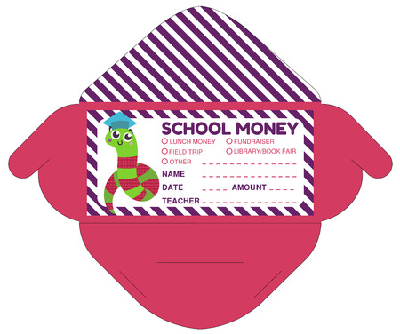 Personalized School Money Envelop With Teacher Notes.Funny Exotic ...
