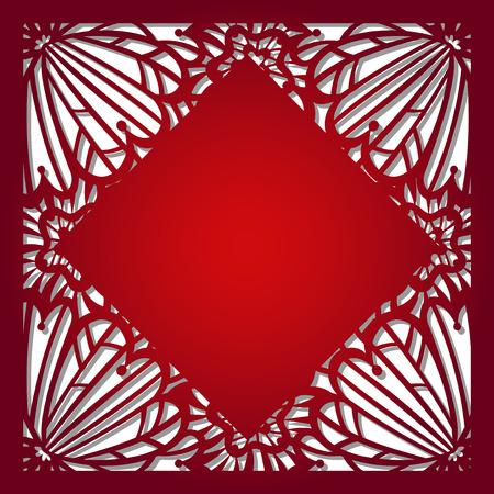 decorative pattern: Laser cut vector template Illustration