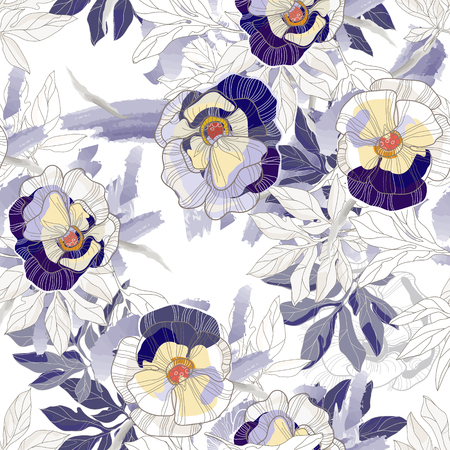 Beautiful vintage seamless pattern background.