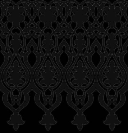 Gothic Damask wallpaper background balck on black