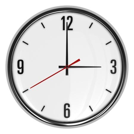 3d illustration of clock isolated on white background illustration
