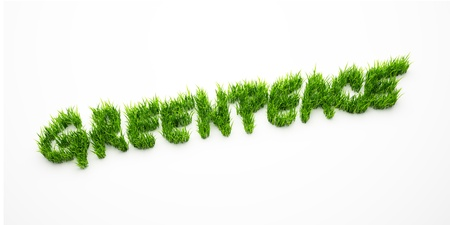 greenpeace: Grass greenpeace symbol isolated on white background