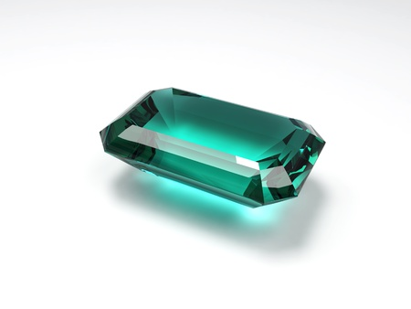the caustic: 3D illustration of emerald with caustic