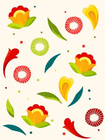 Abstract floral seamless pattern background. Vector illustration.
