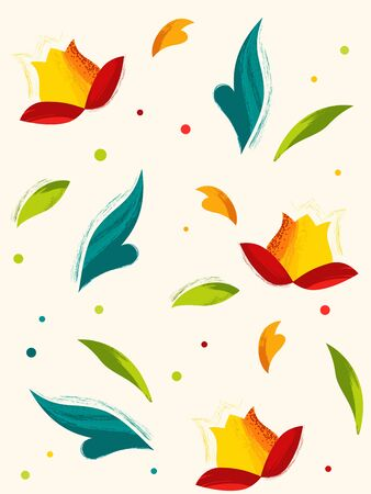 Modern floral seamless pattern background. Vector illustration. Ilustração