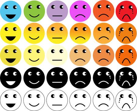 gezichten pijn rating scale Stock Illustratie