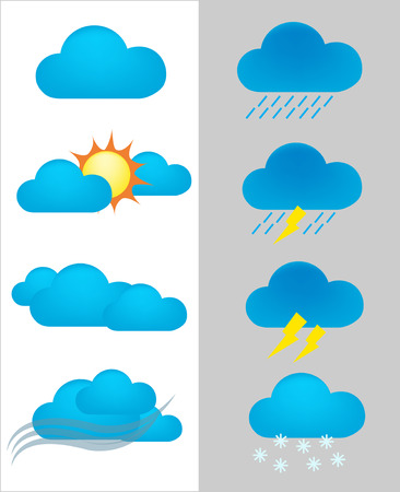 forcast: set of weather forecast  icon