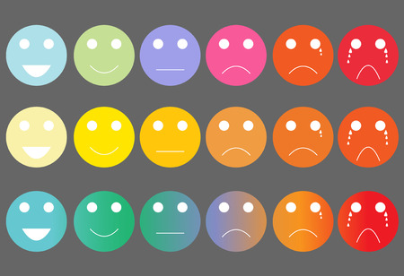 color scale: Faces pain rating scale and assessment tool Illustration