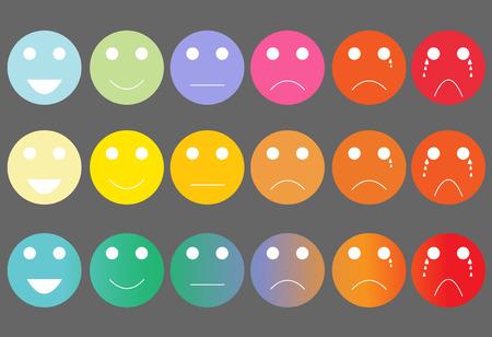 evaluation: Faces Schmerz-Ratingskala und Bewertungsinstrument Illustration