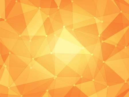 briller polygone jaune et orange géométrique abstrait