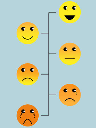 standard pain rating scale yello style with background Illustration