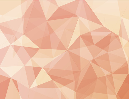 vecter: light orange and  pink polygonal geometric abstract background vecter Illustration