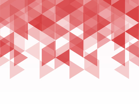 텍스트 spacr 모자이크 스타일의 빨간색과 분홍색 다각형 기하학적 추상 배경 삼각형 모양
