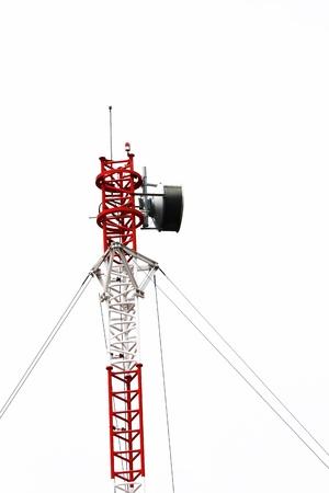 short wave: Short wave communication tower Stock Photo