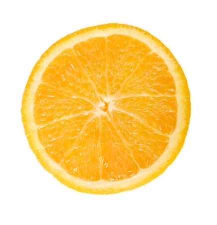 Orange in cross-section
