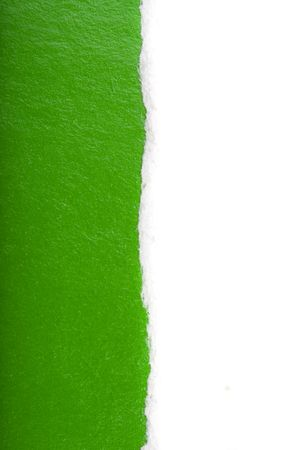 Divorced paper with green layer inside