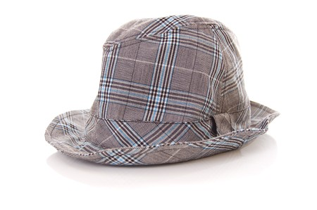 Grey hat isolated on white background Stock Photo