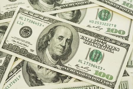stack of US Paper Currency (Benjamin Franklin)
