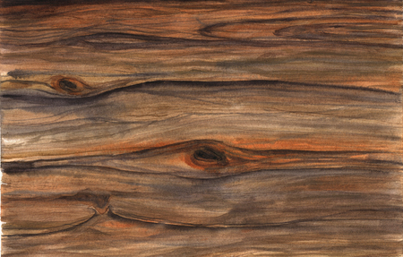 knotted: Wood texture. Watercolor hfnd drawing artistic realistic illustration for design, background, textile. Stock Photo