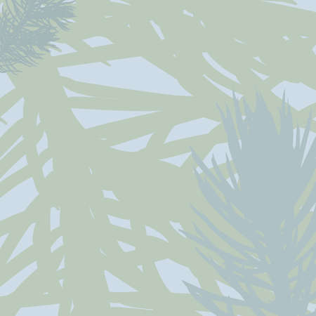 Vector spruce pattern. Green, blue gray Nature