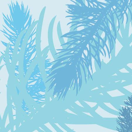 Vector seaweed pattern. Summer mood