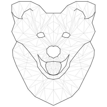 Polygon animal pet dog line polygonal icon template geometric vector