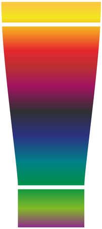 Paint tube icon of a set. Rainbow gradient vector