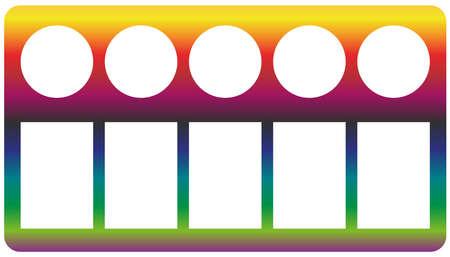 Color palette icon of a set. Rainbow gradient vector Иллюстрация