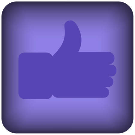 Blue square like thumbs-up icon of a set. Vector Иллюстрация