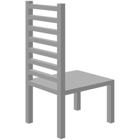 3d chair. Vector illustration isolated on white background.
