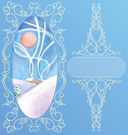paysage: rich decorated elegant ornament background Illustration