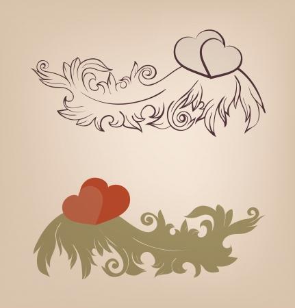 Romantic Valentine s background Vector