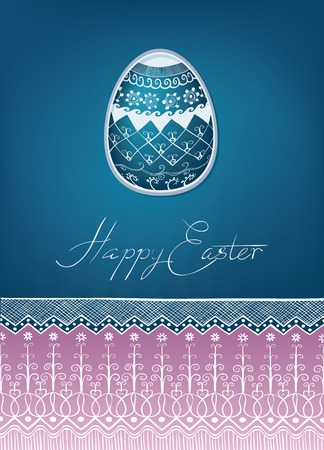 ethnics: ricco decorato con il disegno di ornamento etnico Scheda dell'uovo di Pasqua