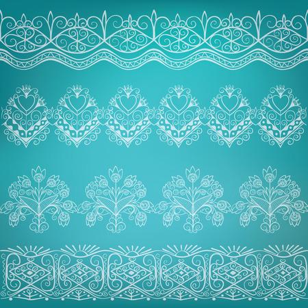 border folk design ornate decoration hand-drawn lettering Illustration