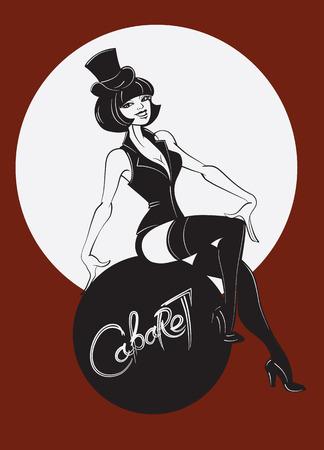burlesque: Artist perform a cabaret or burlesque show