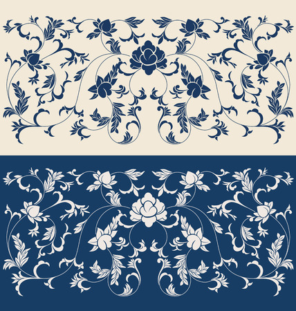 florish: Background bordel design with regional ornament  Asia, China