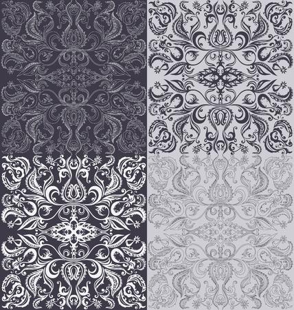 regional: Background design with floral oriental seamless pattern Illustration