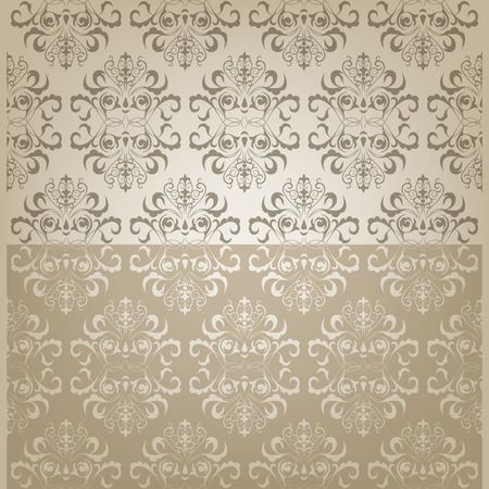 florish: Background design with floral oriental seamless pattern Illustration