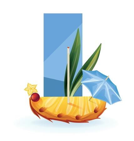 exotic fruit: Background design decorated  slice of tropical exotic fruit. realistic, isolated on white