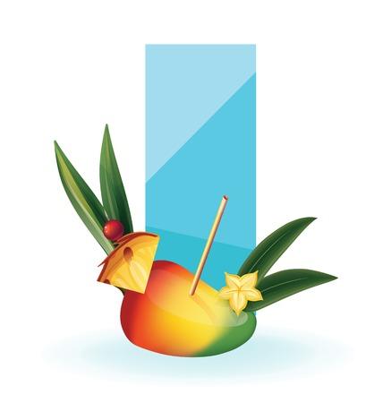 mango slice: Background design slice of tropical exotic fruit. realistic, isolated