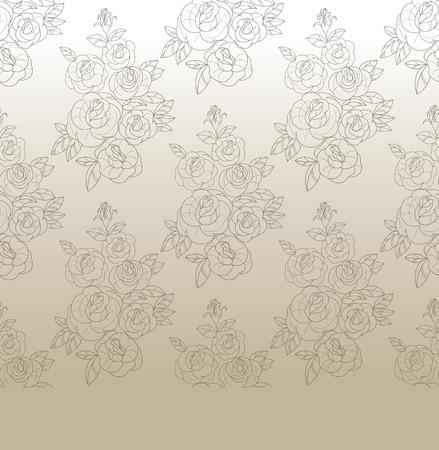 rosebud: vintage background design with floral rose and rose budes bouquet