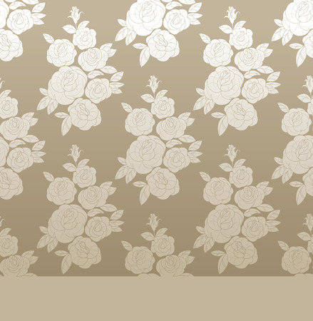 chabby: vintage background design with floral rose and rose budes bouquet