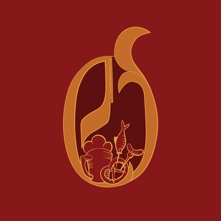 bretzel: Lettering design of capital O for Octoberfest