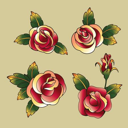 golondrina: diseñar elementos Antiguo Tatto School. Tinta, símbolos de entintado