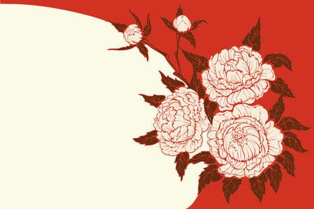 pfingstrosen: Hintergrundgrafik florales Design von Pfingstrosen Strau� Lizenzfreie Bilder