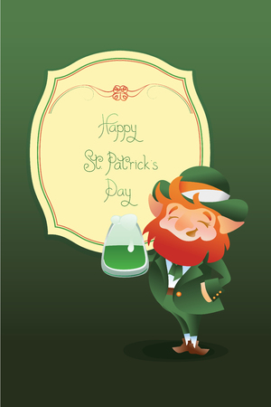 stpatrick: Design of St.Patrick Day gratters with lettering greeting